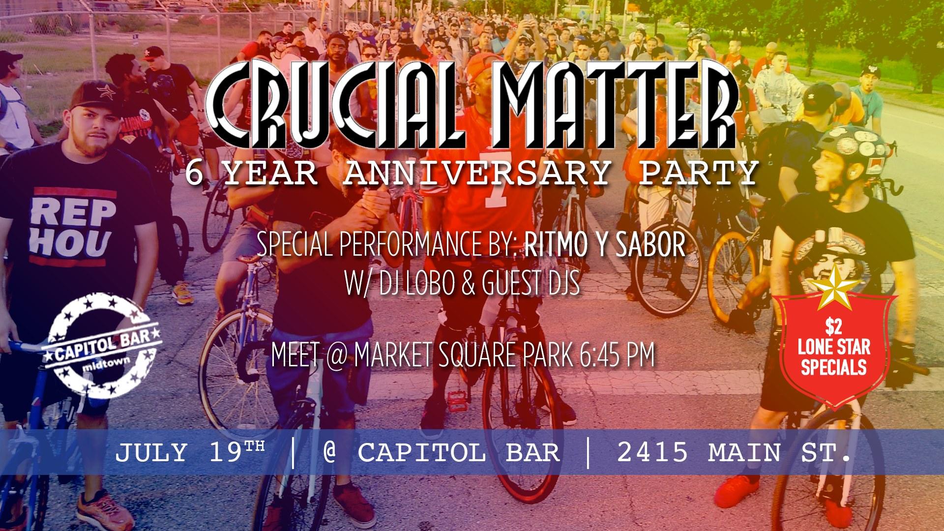 Crucial Matter Bike ride